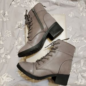 Gray Lace Up Combat Boots Maurices Sz. 8